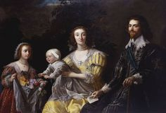 The Royal Collection: George Villiers, 1st Duke of Buckingham (1592-1628) with his Family, Gerrit van Honthorst, 1628?