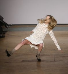 Mathilde Frachon falls at Marc by Marc on her 20th birthday -- oof.