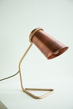 metallic lamp by architect Clancy Moore