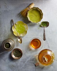 Get to Know Green Tea | Green tea is great for your self-care routine-its packed with antioxidants known to boost immunity and help lower cholesterol and blood pressure.  Here are three types of green tea you should know about, plus how to brew the perfect cup of green tea.  #drinks #tea #greentea #marthastewart