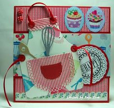 Anja Zom kaartenblog - Marianne Creatables Design Apron Die with Kitchen utensils