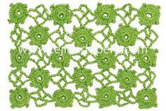 Cómo tejer el punto manzanillón recto a crochet! Incluye cómo tejer las rejillas solas e intercalar algunas florcitas.