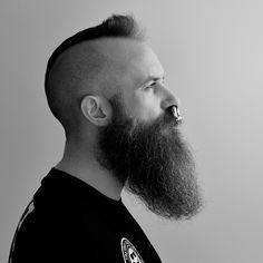 Beard/Mohawk (Stuff n Nonsense) Tags: beard mohawk septum septumpiercing septumring Badass Beard, Epic Beard, Long Beard Styles, Hair And Beard Styles, Hair Styles, Perfect Beard, Beard Love, Great Beards, Awesome Beards