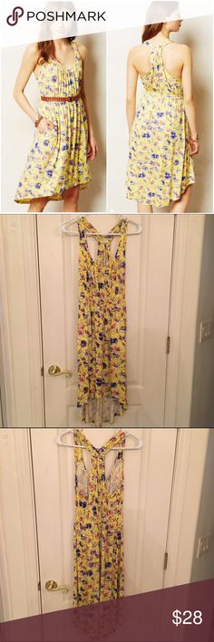 Laguna Racerback Dress Lots of stretch so this easily works for a small as well. EUC. Anthropologie Dresses