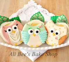 Shabby Chic Owls - Ali Bees Bake Shop--love the noses and feet