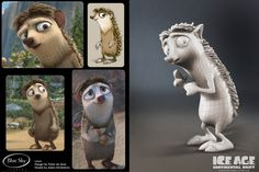 The character Louis that I modeled for Ice Age: Continental Drift.