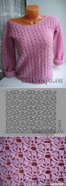 Кофточка «Нежно розовое наваждение» от Оксаны Железняк » Мастерю - все своими руками