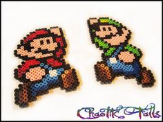 Mini Mario and Luigi Pixel Art Perler Beads by ChaotikFalls on deviantART