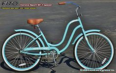 """Fito Verona Sport SF 1-speed Women, 26"""" Beach Cruiser Bike Bicycle, Step-through & crank fordward design, Limted QTY Offer! - http://www.bicyclestoredirect.com/fito-verona-sport-sf-1-speed-women-26-beach-cruiser-bike-bicycle-step-through-crank-fordward-design-limted-qty-offer/"""