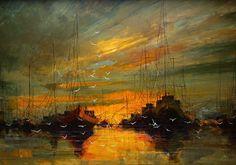Masterful Textured Oil Paintings of Ships at Sea - My Modern Metropolis - Justyna Kopania