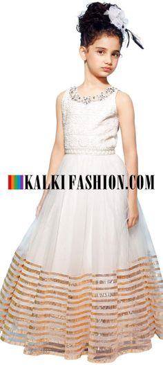 Buy Online from the link below. We ship worldwide (Free Shipping over US$100) http://www.kalkifashion.com/cream-gown-featuring-with-thread-embroidered-yoke.html