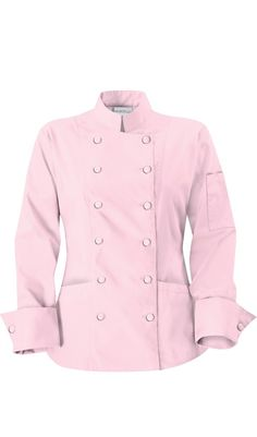 Women's Traditional Chef Color Jackets - Fabric Covered Buttons - 100% Cotton by ChefUniforms.com $26.99 http://www.chefuniforms.com/chef-coats/womens-chef-coats/225.asp?frmcolor=trred