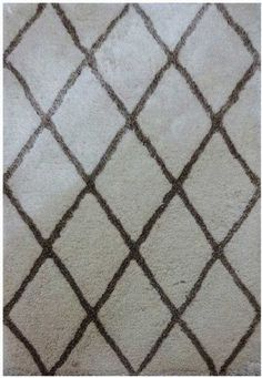 Rizzy Home Commons Co200A Ivory / Brown Area Rug 8 Feet x 10 Feet