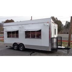 New 8.5 x 20 White Enclosed Food Event Catering BBQ Concession Trailer | 18986 | $100,000,000.00