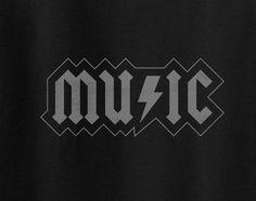 Music AC/DC style logo Hip Hop Rock Roll Grateful Dead Kanye doors nirvana tee t-shirt
