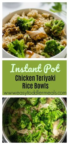 This one pot Instant Pot Chicken Teriyaki Rice Bowl recipe ticks so many boxes - it's ready in 15 minutes, making it perfect for weeknight dinners, it feels like a takeout treat but way healthier and - most importantly - kids LOVE IT. Try it! #easytoddlermeals #dinner #instantpot #onepot