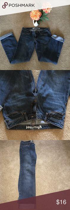 "SUNSET WHITEWASH JEANS WHITEWASH SUNSET DEMIN JEANS.   30"" Waist •  6.5"" Rise • 31"" Inseam.  SUPER CUTE WITH CUFF. Sunset Jeans Straight Leg"