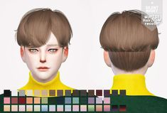 Silent Night: May Hair 275M recolor  - Sims 4 Hairs - http://sims4hairs.com/silent-night-may-hair-275m-recolor/