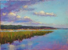 Mike Rooney Studios- Painting a Day: Dusk on the Marsh 30x40