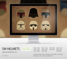 Star Wars Helmets minimal Wallpaper Zpecter 620x551 SW Helmets by Zpecter | Wallpaper