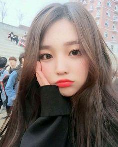 Imagem de ulzzang, girl, and asian Pretty Korean Girls, Cute Korean Girl, Pretty Asian, Cute Asian Girls, Beautiful Asian Girls, Cute Girls, Korean Girl Ulzzang, Style Ulzzang, Uzzlang Girl