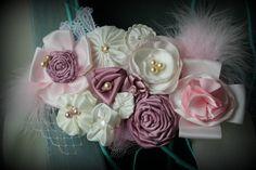 Beautiful Pink and Cream MATERNITY sash by thelaughingprincess, $40.00