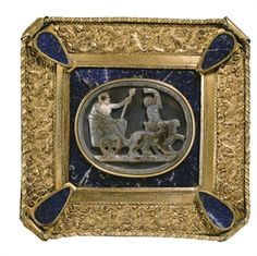 A CARVED OVAL AGATE CAMEO REPRESENTING THE TRIUMPH OF BACCHUS  LATE 16TH CENTURY