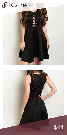 *CLEARANCE* Black lace-up dress Made in the USA - this was listed at $45, NOW ONLY $25 - PRICE FIRM Dresses Mini