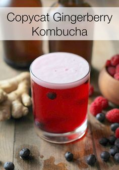 Make kombucha a part of your New Year detox! This Copycat GT's Gingerberry Kombucha recipe will get you hooked on home brewing, and you'll never buy kombucha from the store again! @roastedroot