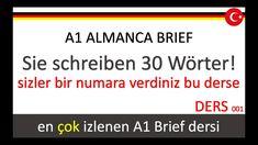 A1 ALMANCA sınavı mektup örneği - A1 Brief Beispiel - 3 SORU - 3 CEVAP y... Youtube, Sentence Connectors, Learn German, Writing, Youtubers, Youtube Movies