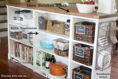 Billy bookshelves turned into a kitchen island for $500