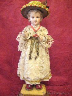Niño Jesus de madera de vestir S. XIX