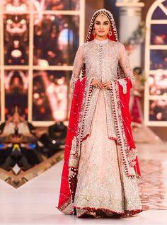 Zainab Chottani. Salmon pink front open net shirt