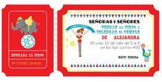 invitacion circo Invitaciones para Fiestas Circo