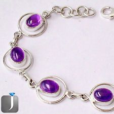 These gleaming purple amethyst in a pleasing design of silver bracelet is now available at our eBay store..!!  #jewelexi   #silverbracelet  #silverjewelry  #jewelry  #amethyst  #bracelet