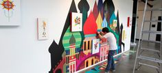 Blik Wall Decals: Imaginary Castle by Patrick Hruby