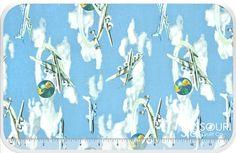 Planes, Trains and Automobiles - Airplanes Yardage - American Vintage - Windham Fabrics