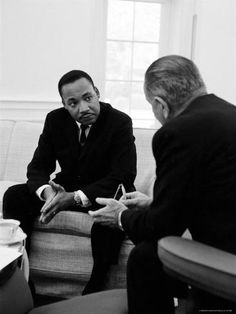 size: Premium Photographic Print: Civil Rights Leader Dr Martin Luther King with Pres. Lyndon Johnson During Visit to the White House by Stan Wayman : Subjects Martin Luther King, Civil Rights Leaders, Civil Rights Movement, Nobel Da Paz, Dr Martins, Georgia, American Presidents, King Jr, Before Us
