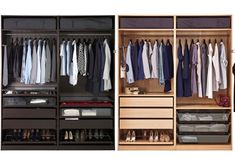 From tight hallways to walk-in closets, the PAX wardrobe system comes in various depth, width and height to fit into your desired space ensuring that every inch is utilised efficiently.