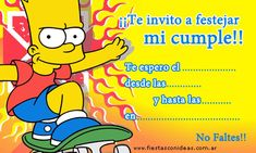 Tarjeta de cumpleaños de lossimpson-bart-2 Simpsons Cake, Simpsons Party, Holidays And Events, Bart Simpson, Birthday, Google, Salvador, Rugby, Ideas Para