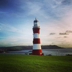 Smeaton's Tower on Plymouth Hoe, England