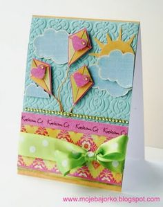 This card just seems to be bursting with happiness! Great colors!