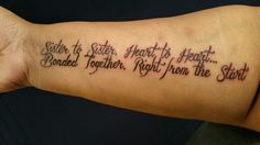 The sister tattoo that my sister and I got last month(February)