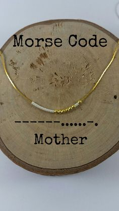 MOTHER Morse Code Necklaces Secret Message Dainty necklace Minimalist Morse code jewelry gold necklace mother gift mom gift mum gift - Mother Morse Code Secret Message Necklace You can customize the colorful Secret Morse Code Message - Gifts For Mum, Cute Gifts, Diy Mother Gifts, Diy Gifts Mom, Tiny Gifts, Special Gifts, Code Morse, Message Secret, Engagement Ring Rose Gold
