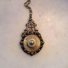 Vintage Elegance button necklace by lastingattachments on Etsy