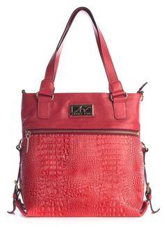 bffc3f0f57 Bolsa duas em uma de couro Andrea Vinci vermelha - Enluaze - Bolsas