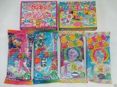 Kracie 6pcs Set Popin Cookin Gumi Tsureta Nerunerunerune Cute Japanese DIY Candy #Kracie