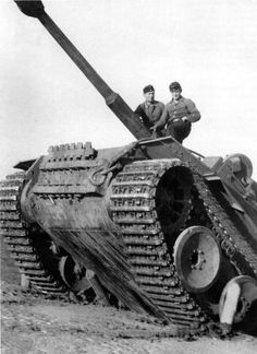 Pz. Kpfw. VI Tiger  The crew of the German tank Pz. Kpfw. VI Tiger demonstrates the capabilities of the machine to climb out os an anti-tank ditch