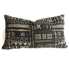 Black and White Mud Cloth Pillows|Africa