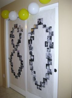"""""""80"""" out of pictures. Or could do this out of flowers? Cute"""